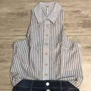 Free People Open back Button-up